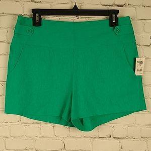 Charlotte Russe High Waisted Linen Blend Shorts 10